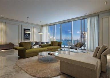 1 комнатная квартира США, Флорида Майами, Brickell Flatiron
